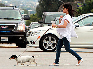 Spotted: Selma Blair's Dog – and Bump – Take the Lead | Selma Blair
