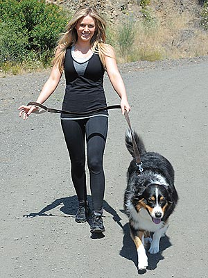 Hilary Duff, Dog Dubois Model for Danskin