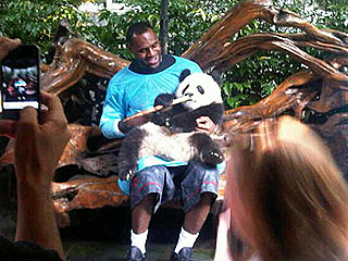 LeBron James Gets Upstaged – by a Panda! | LeBron James