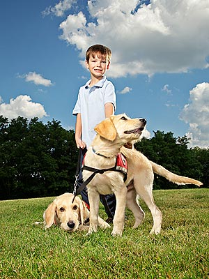Boy Writes Book to Raise Money for Seizure-Sniffing Dog
