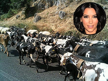 Kim Kardashian's Honeymoon Interrupted by Goats! | Kim Kardashian