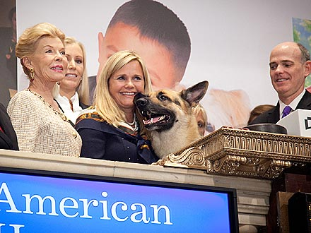 Rin Tin Tin Rings Closing Bell at New York Stock Exchange