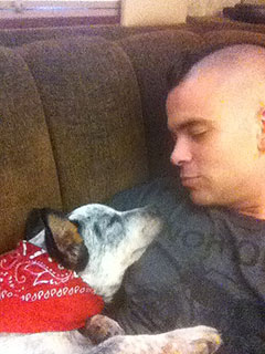 Puck-er Up! Meet Mark Salling's New Dog! | Mark Salling