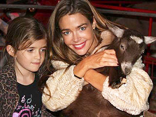Spotted: Denise Richards Gives a Goat a Squeeze | Denise Richards