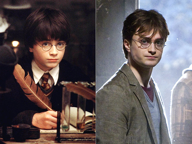 Which memento did Daniel Radcliffe take from the Potter set?