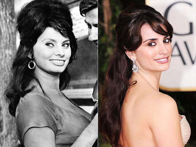 PENÉLOPE AS SOPHIA   photo | Penelope Cruz, Sophia Loren