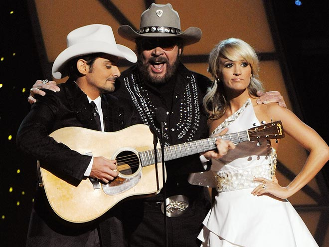photo | Brad Paisley, Carrie Underwood, Hank Williams Jr.