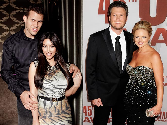 photo | Blake Shelton, Kim Kardashian, Kris Humphries, Miranda Lambert