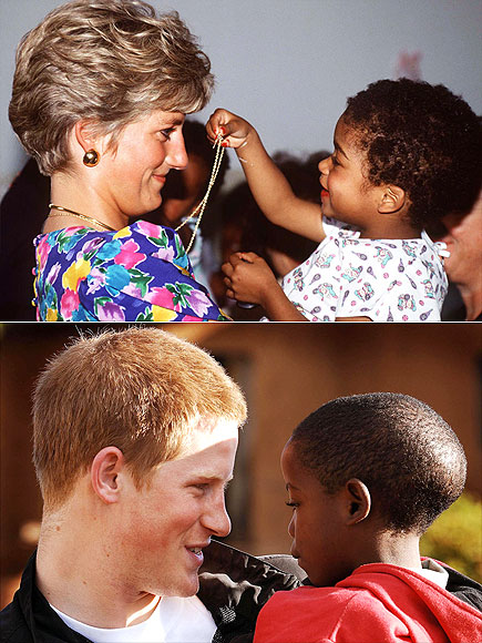 GIVING KIDS A LIFT  photo | Prince Harry, Princess Diana