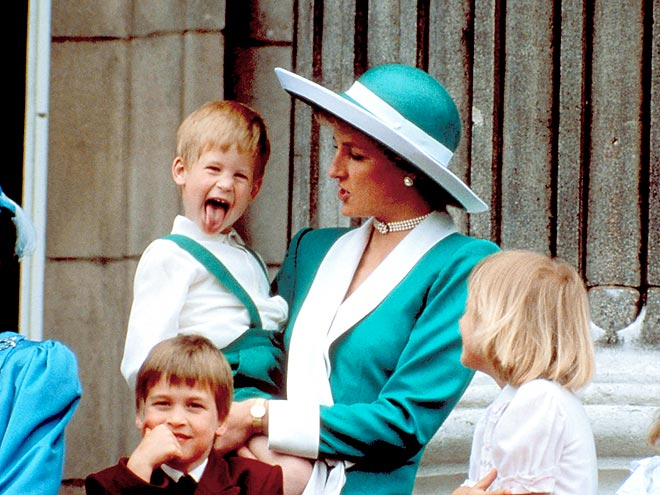 BIRTHDAY HIGH JINKS  photo | Prince Harry, Prince William, Princess Diana