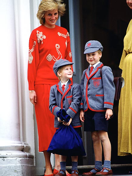 HARRY'S FIRST DAY  photo | Prince Harry, Prince William, Princess Diana