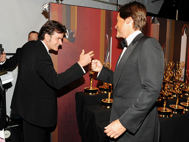 OLD PALS photo   Charlie Sheen, Rob Lowe