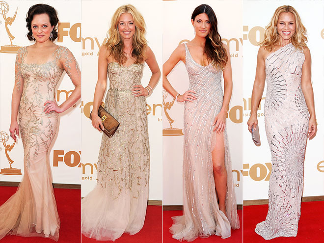 EMBELLISHED BLUSH DRESSES photo | Cat Deeley, Jennifer Carpenter, Maria Bello