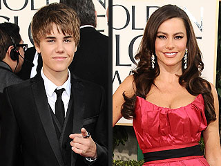 Sofia Vergara and Justin Bieber Over-Share from the Globes | Justin Bieber, Sofia Vergara