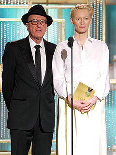 Why Is Geoffrey Rush Wearing a Hat Indoors? | Geoffrey Rush, Tilda Swinton