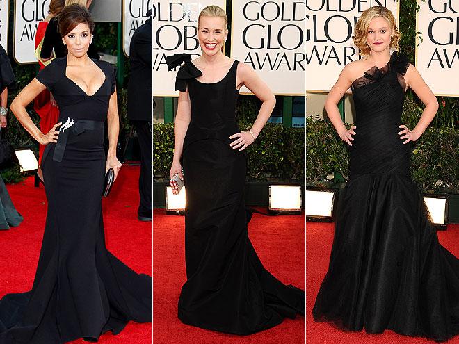 Eva Longoria in Zac Posen, Piper Perabo in Oscar de la Renta , Julia Stiles in a Romona Keveza gown
