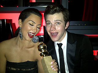 Globes Uncensored! Stars' Self-Pics | Chris Colfer, Kim Kardashian