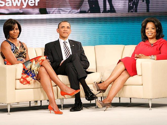 HER POLITICAL PALS: THE OBAMAS  photo | Barack Obama, Michelle Obama, Oprah Winfrey