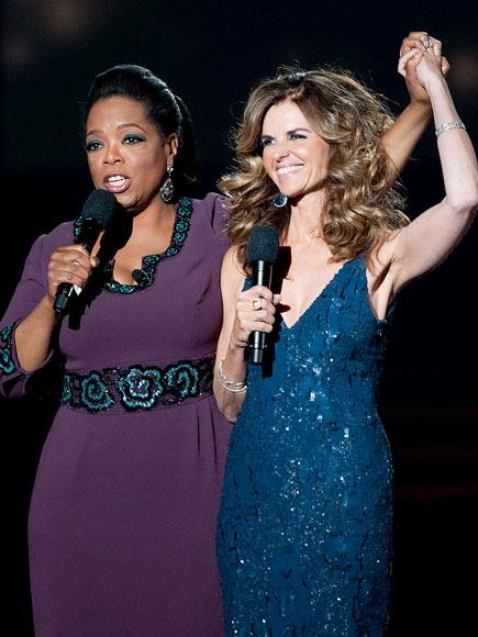 MARIA SHRIVER  photo | Maria Shriver, Oprah Winfrey