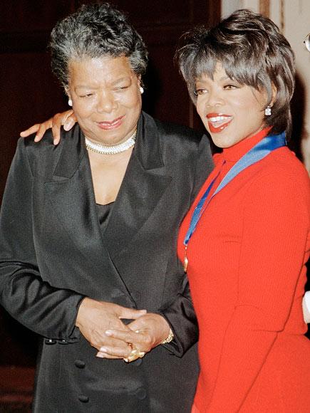 MAYA ANGELOU  photo | Maya Angelou, Oprah Winfrey