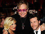 Tori Spelling Hoping for a Playdate with Elton John&#39;s Son | David Furnish, Dean McDermott, Elton John, Tori Spelling