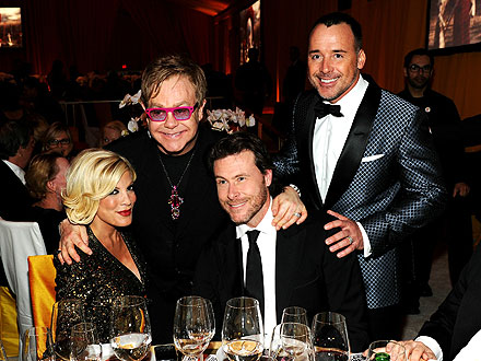 Tori Spelling Hoping for a Playdate with Elton John's Son | David Furnish, Dean McDermott, Elton John, Tori Spelling