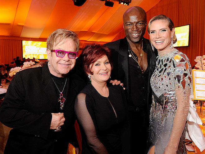 MAKING THE ROUNDS photo | Elton John, Heidi Klum, Seal, Sharon Osbourne