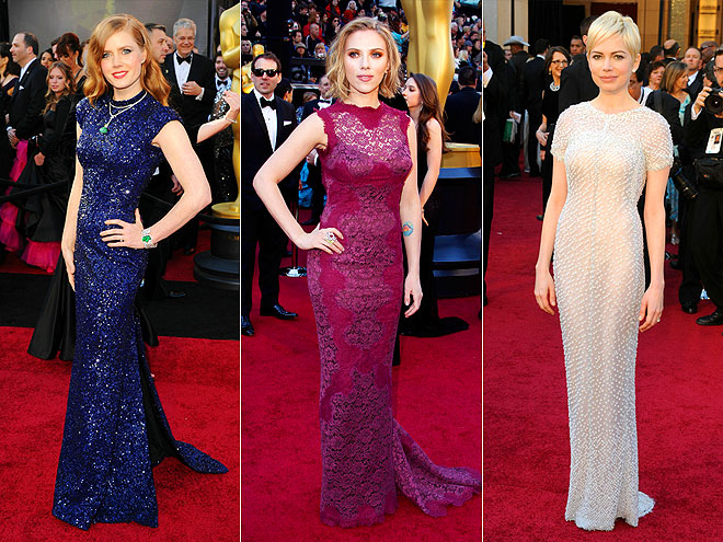 COLUMN GOWNS photo | Amy Adams, Michelle Williams, Scarlett Johansson
