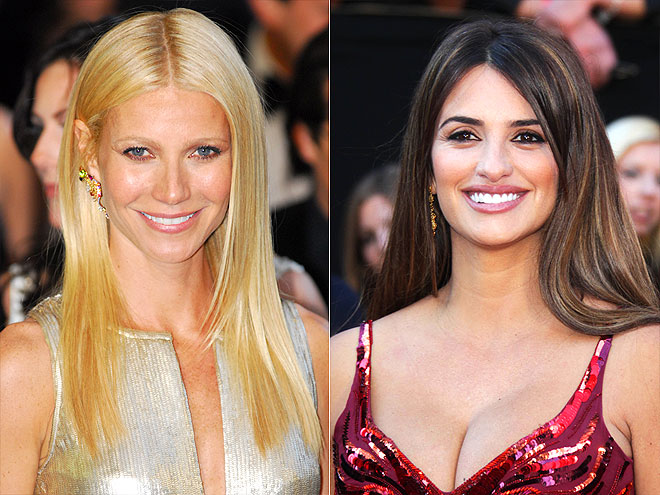 SUPER-STRAIGHT HAIR  photo | Gwyneth Paltrow, Penelope Cruz