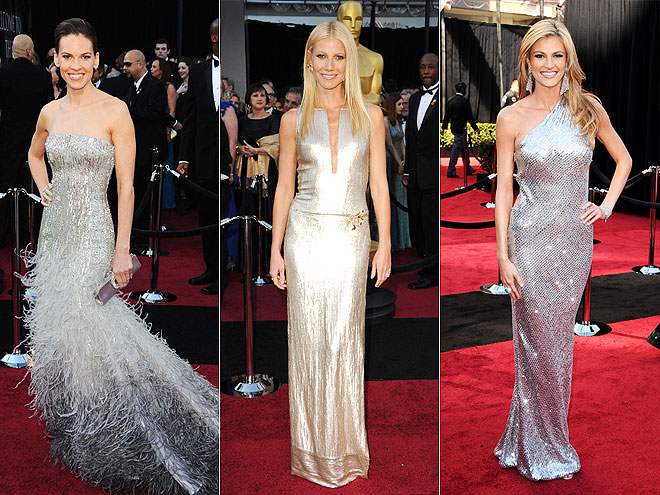 SILVER DRESSES photo | Erin Andrews, Gwyneth Paltrow, Hilary Swank