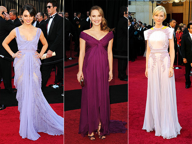 PURPLE GOWNS photo | Cate Blanchett, Mila Kunis, Natalie Portman