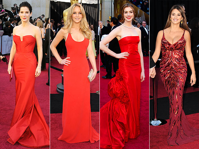 RED-HOT GOWNS photo | Anne Hathaway, Jennifer Lawrence, Pen\u00E9lope Cruz, Sandra Bullock