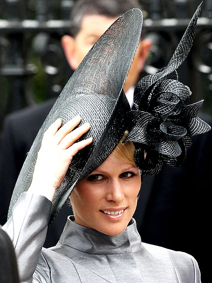 Zara Phillips in a Philip Treacy hat. THE SPENCERS photo Royal Wedding 09320b0a956