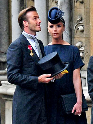David & Victoria Beckham a Wedding Vision in Navy Blue & Gray | David Beckham, Victoria Beckham