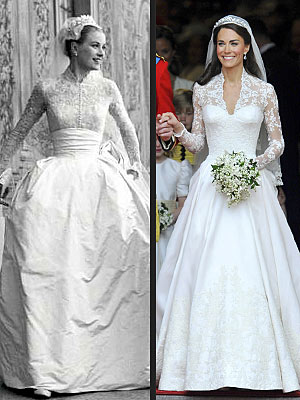 Catherine Middleton's Wedding Dress: Was It Inspired by Grace Kelly?