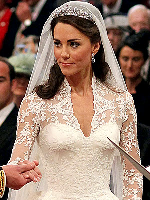 Catherine Middleton Wears Something Borrowed, Something Blue