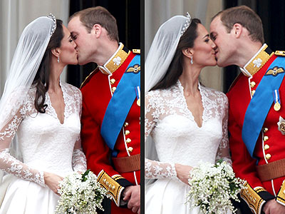 Prince William & Catherine Middleton Kiss Twice at Buckingham Palace | Royal Wedding, Kate Middleton, Prince William