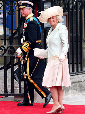 Camilla Parker Bowles Wears a Dress by Her Own Wedding Day Designer