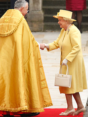 Queen Elizabeth's Bold Yellow Wedding Look