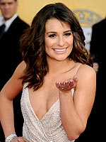 Hey, There! SAG 2011 Stars Caught on Camera | Lea Michele