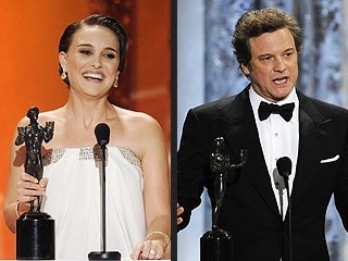 Natalie Portman, Colin Firth Take Top SAG Awards | Colin Firth, Natalie Portman