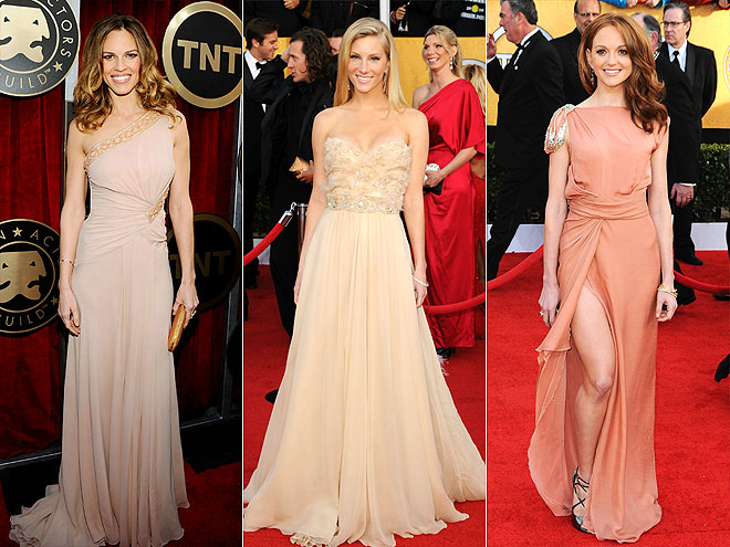 BLUSH TONES  photo | Hilary Swank, Jayma Mays