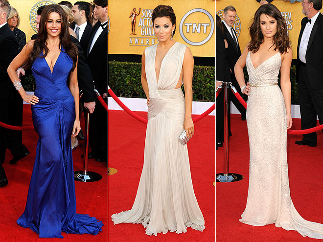 PLUNGING NECKLINES  photo | Eva Longoria Cover, Lea Michele, Sofia Vergara