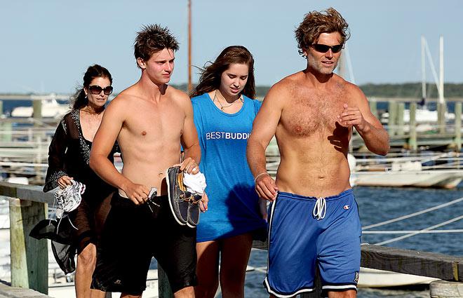 SMOOTH SAILING   photo | Maria Shriver, Patrick Schwarzenegger