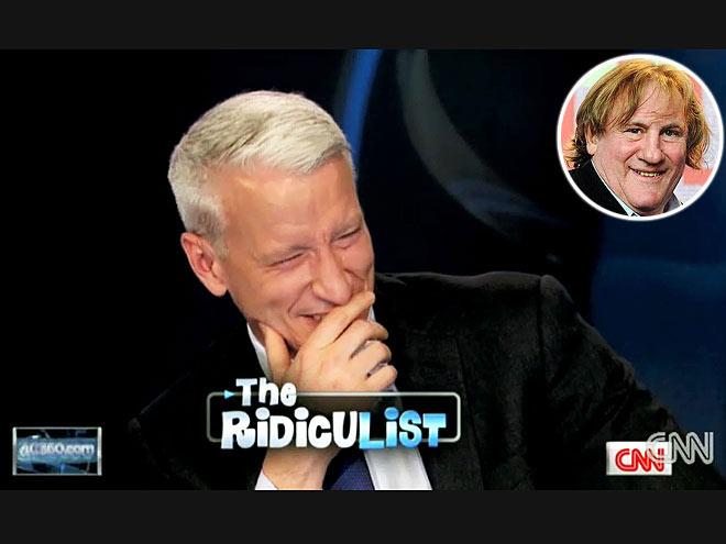 photo   Anderson Cooper, Gerard Depardieu