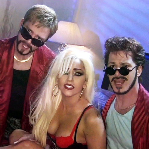  photo | Andy Samberg, Justin Timberlake, Lady Gaga
