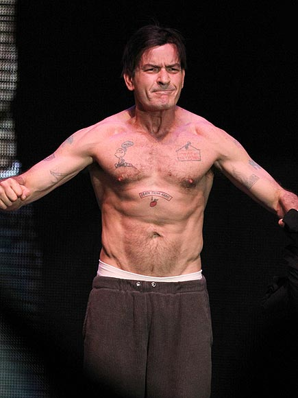 DOWN, WAY DOWN: CHARLIE SHEEN