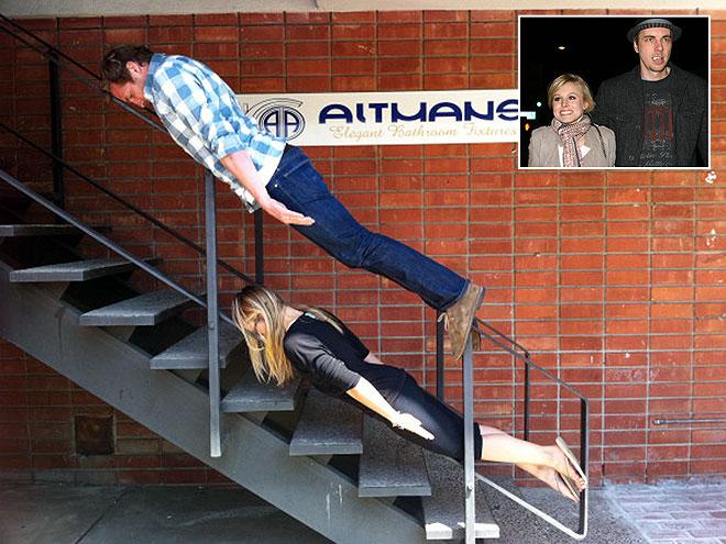 PLANKING  photo | Dax Shepard, Kristen Bell