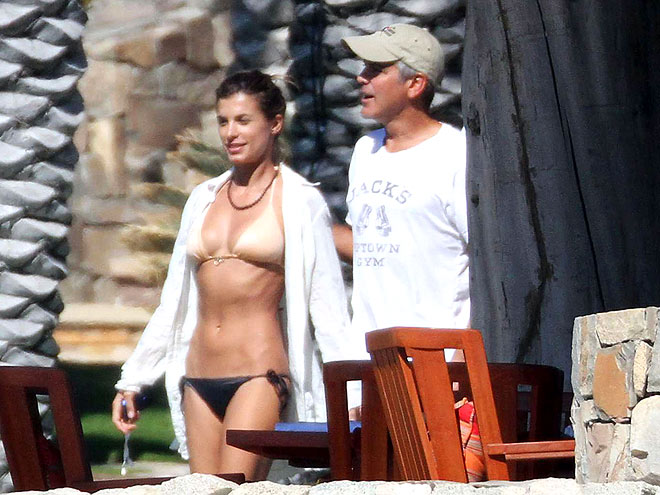 TANNING ROOM photo | Elisabetta Canalis, George Clooney