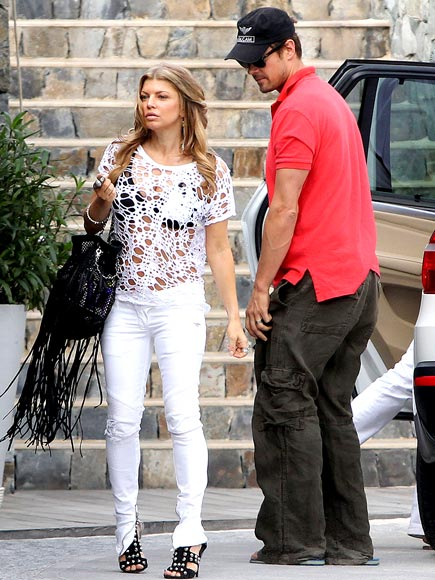 HOLE-Y SHIRT! photo | Fergie, Josh Duhamel